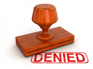 "Rubber Stamp that Says ""Denied"""